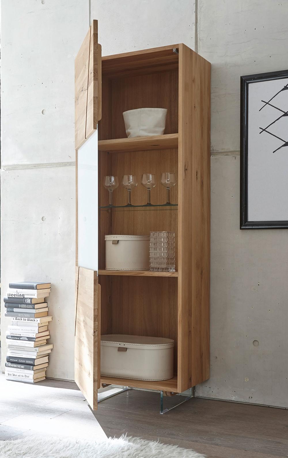Madia moderna cucina soggiorno legno rovere scontata -46 ...