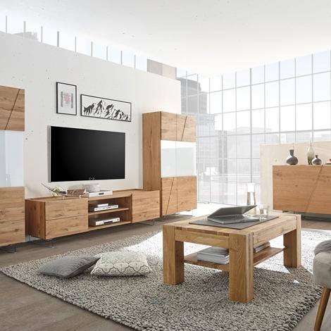 Credenza vetrinetta moderna in legno e vetro bianco for Vetrinetta moderna