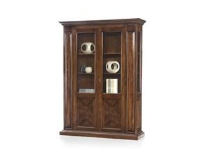 Vetrinetta Vetrina cristalliera in legno intarsiata mottes mobili Artigianale in legno a prezzo Outlet
