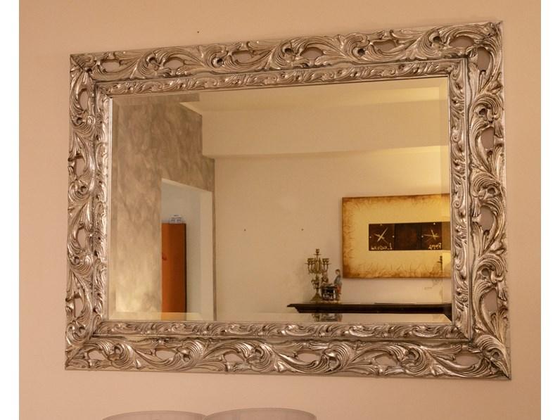 Specchio Specchio Cornice Classica Argento Antico Di Artigianale In Stile Classico Scontato