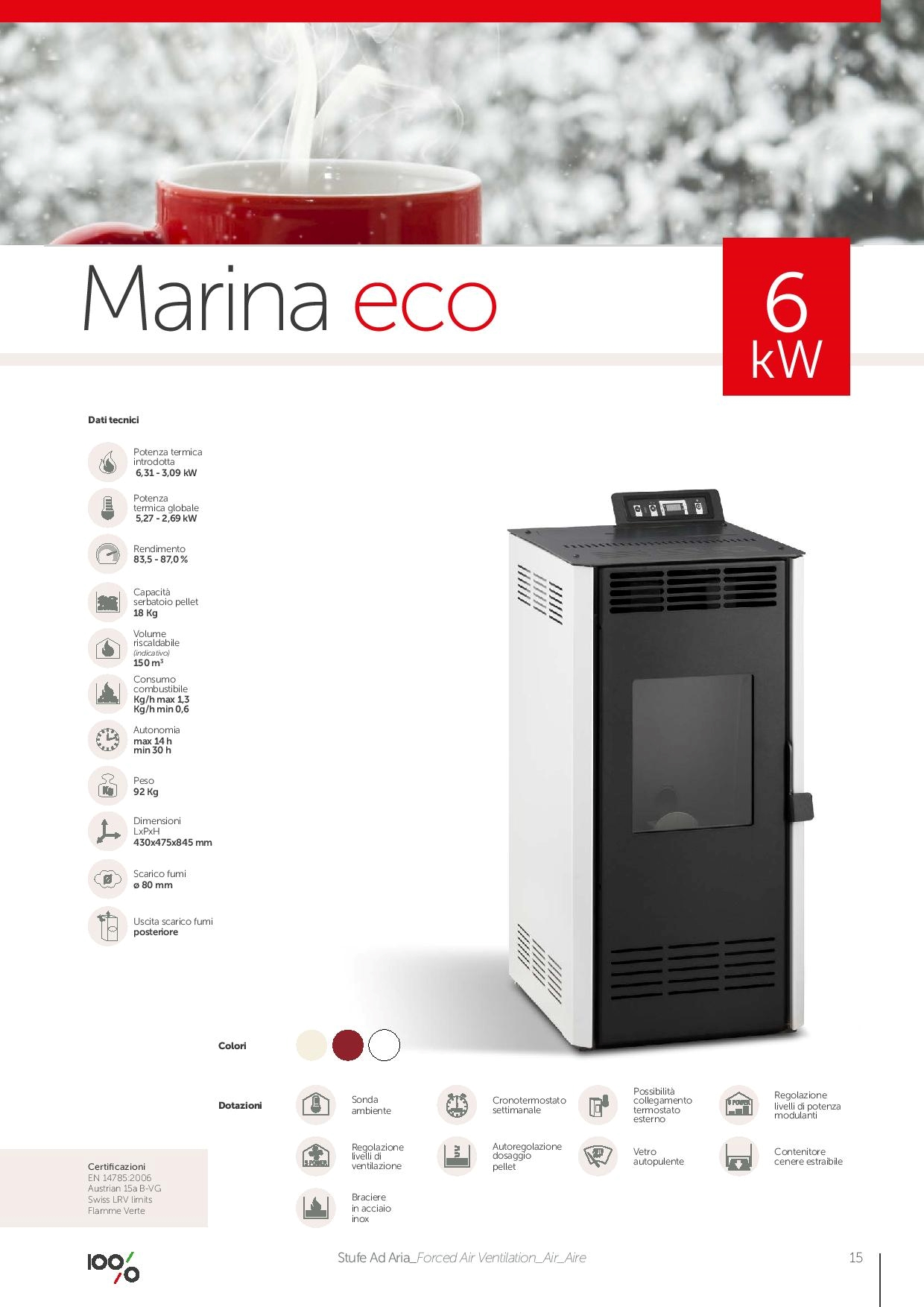 Ambiente calore stufa marina eco 6kw scontato del 65 stufe a prezzi scontati - Mobilbagno ozzano ...
