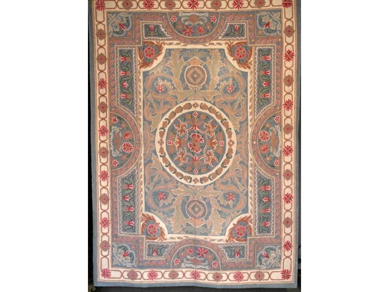 Tappeto in lana classico rettangolare chainstich cm for Abitare arredamenti camerette