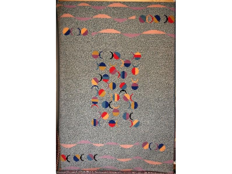 Tappeto quadrato Moderno in lana Pesci di Sitap in Offerta Outlet