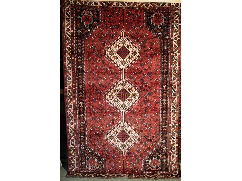 rettangolare classico in lana Persiano Shiraz cm.165x255 di Sitap a ...