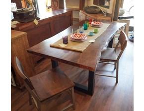 Tavolo legno noce industry di Outlet etnico a prezzo ribassato
