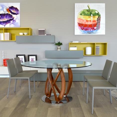 arredamenti chianese tavolo porada infinity vetro e legno