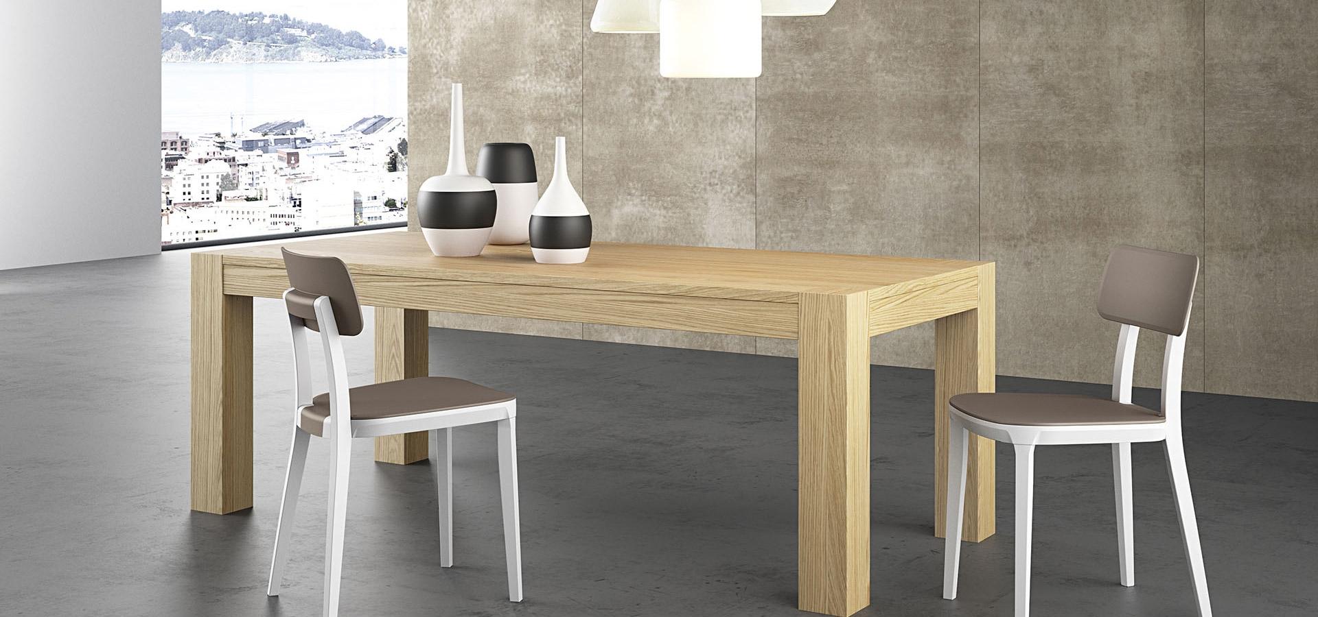 Arredo3 tavolo tavolo in rovere spazzolato rettangolari for Tavoli rettangolari moderni