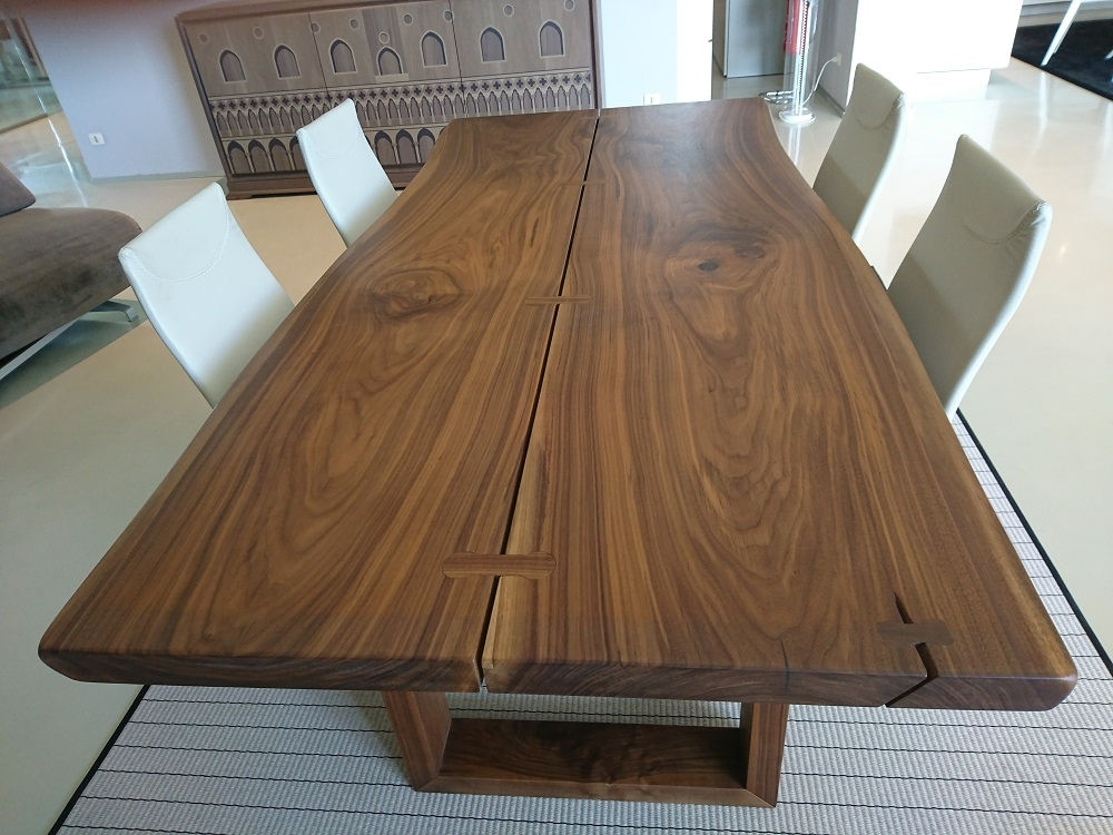 Arte brotto tavolo vero legno noce canaletto massello - Tavolo noce massello ...