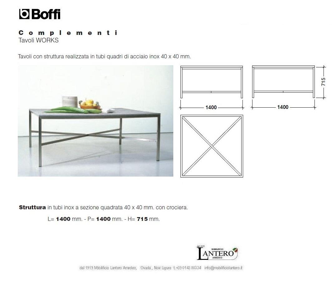 Boffi tavolo quadrato works tavoli a prezzi scontati - Tavolo quadrato 140x140 ...