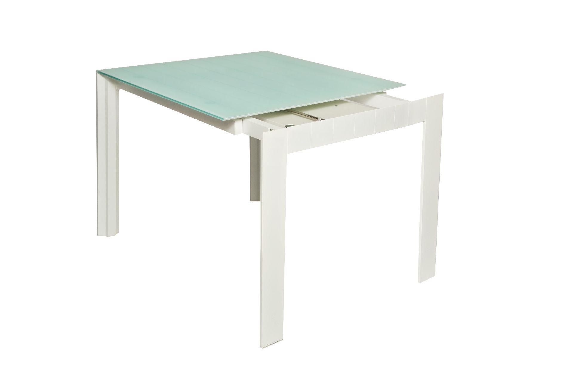 Ripiano In Vetro Per Tavolo.Tavolo Quadrato Allungabile Vetro Higrelays