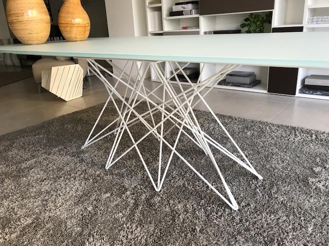 Bonaldo tavolo octa rettangolare fisso in cristallo tavoli a prezzi scontati - Tavolo cristallo rettangolare usato ...