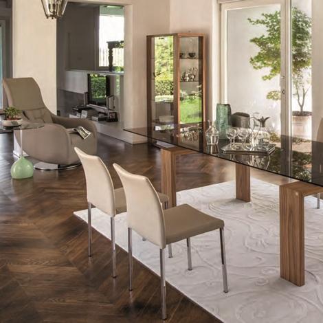 Brooklyn 8000 tavolo della tonin casa in cristallo legno allungabile tavoli a prezzi scontati - Tavolo trasparente allungabile ...