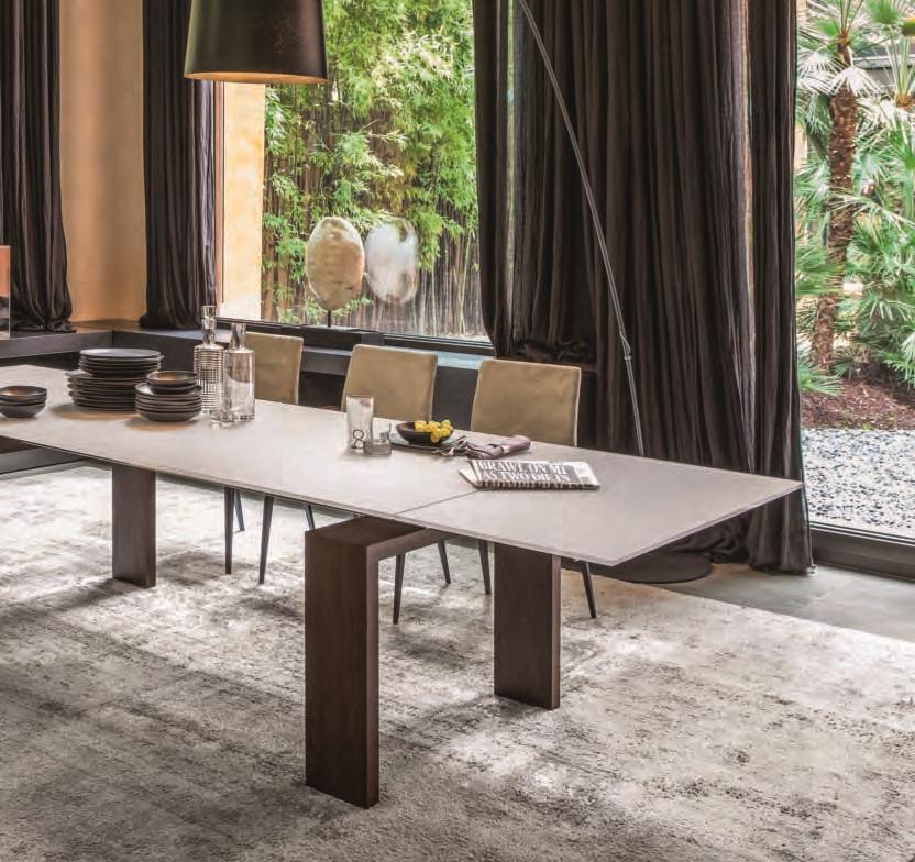 Brooklyn 8000 tavolo della tonin casa in cristallo legno - Tavolo in cristallo allungabile ...