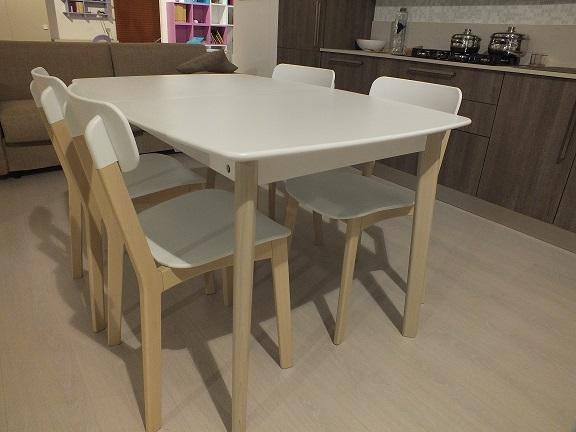 calligaris, tavolo e 4 sedie modello cream scontate del 40 ... - Sedie Cucina Scontate Calligaris