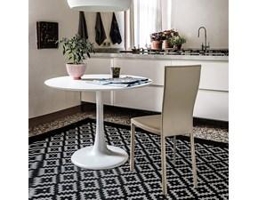 Tavolo rotondo bianco Hugo Bistrot di Cattelan