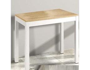 Consolle con piano in legno massello gamba metallo in offerta outlet - Tavolo consolle allungabile fino a 3 metri ...