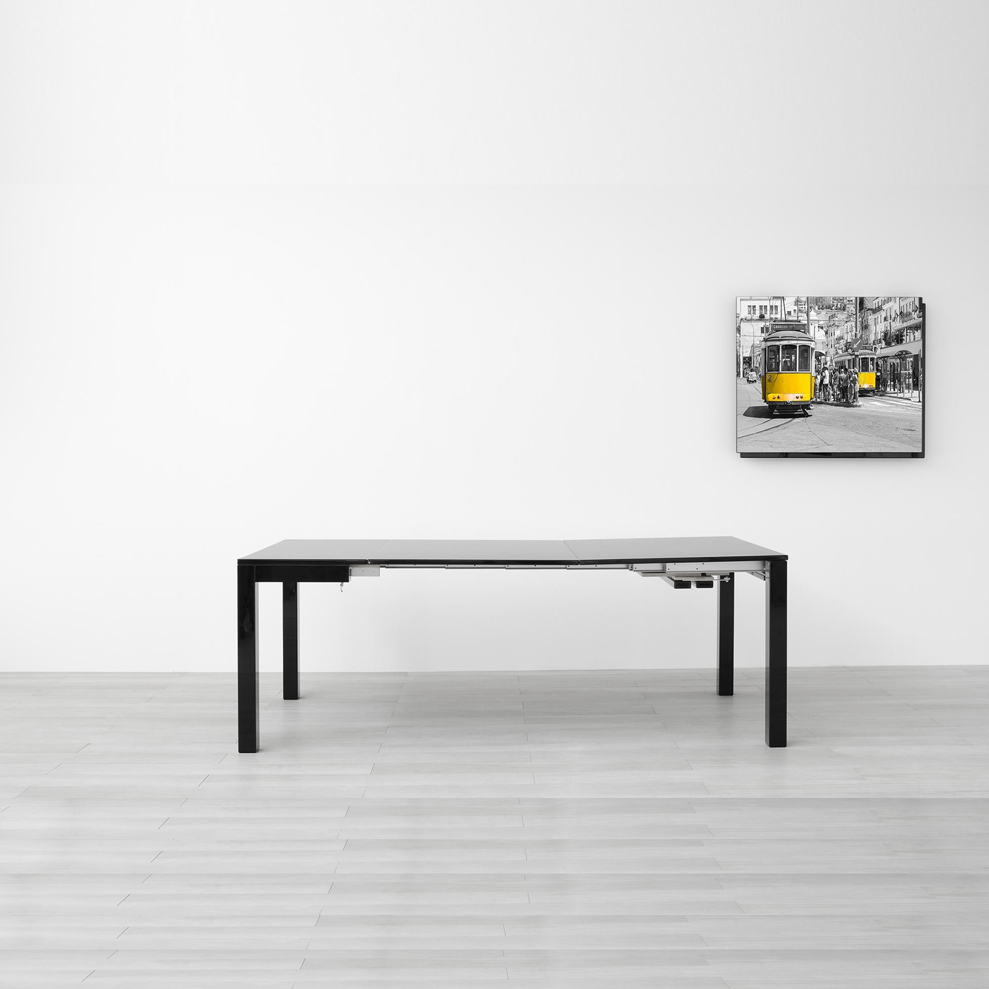 Consolle estensibile lg lesmo scontata del 33 tavoli a for Consolle nera laccata