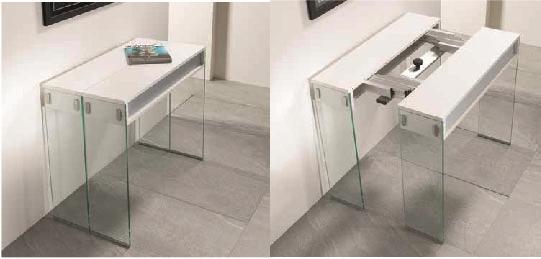Consolle allungabile pezzani modello city gambe vetro for Tavolo consolle allungabile prezzi