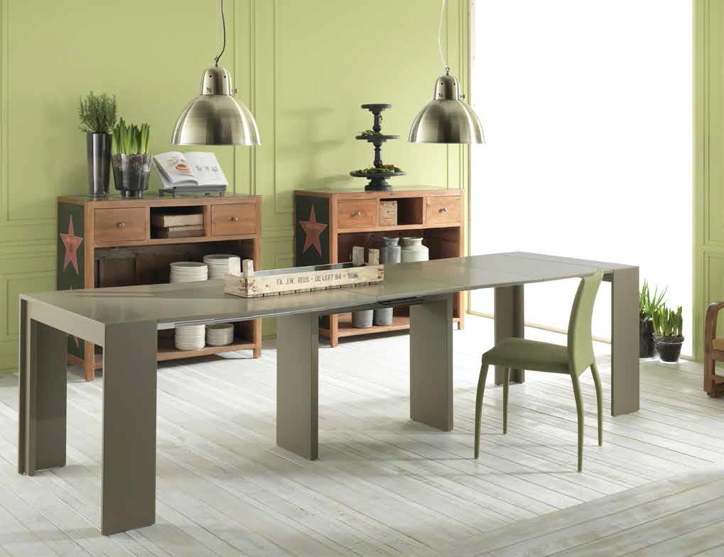 Tavolo consolle modello pinocchio di stones tavoli a for Tavolo consolle alto