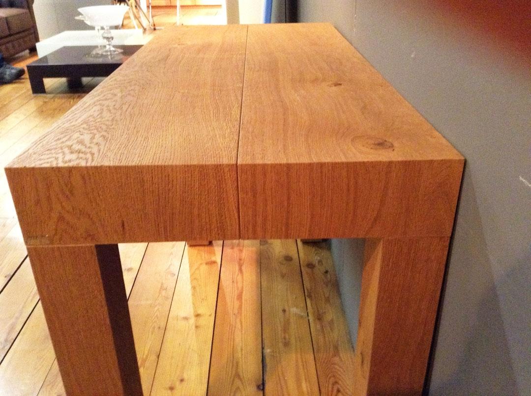 Consolle allungabile q300 twood in legno rovere di for Tavolo consolle allungabile legno massello