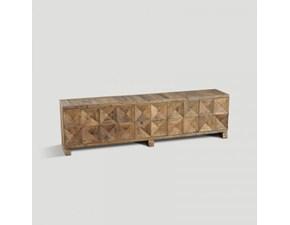 Consolle rettangolare in legno Db003958  Dialma brown in Offerta Outlet