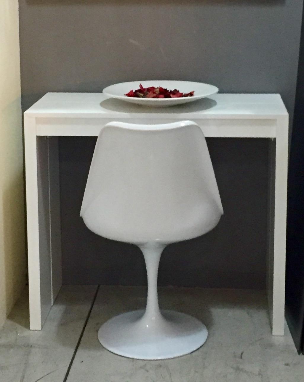 Tavolo lene tavolo consolle allungabile rettangolari - Tavolo bianco laccato lucido ...