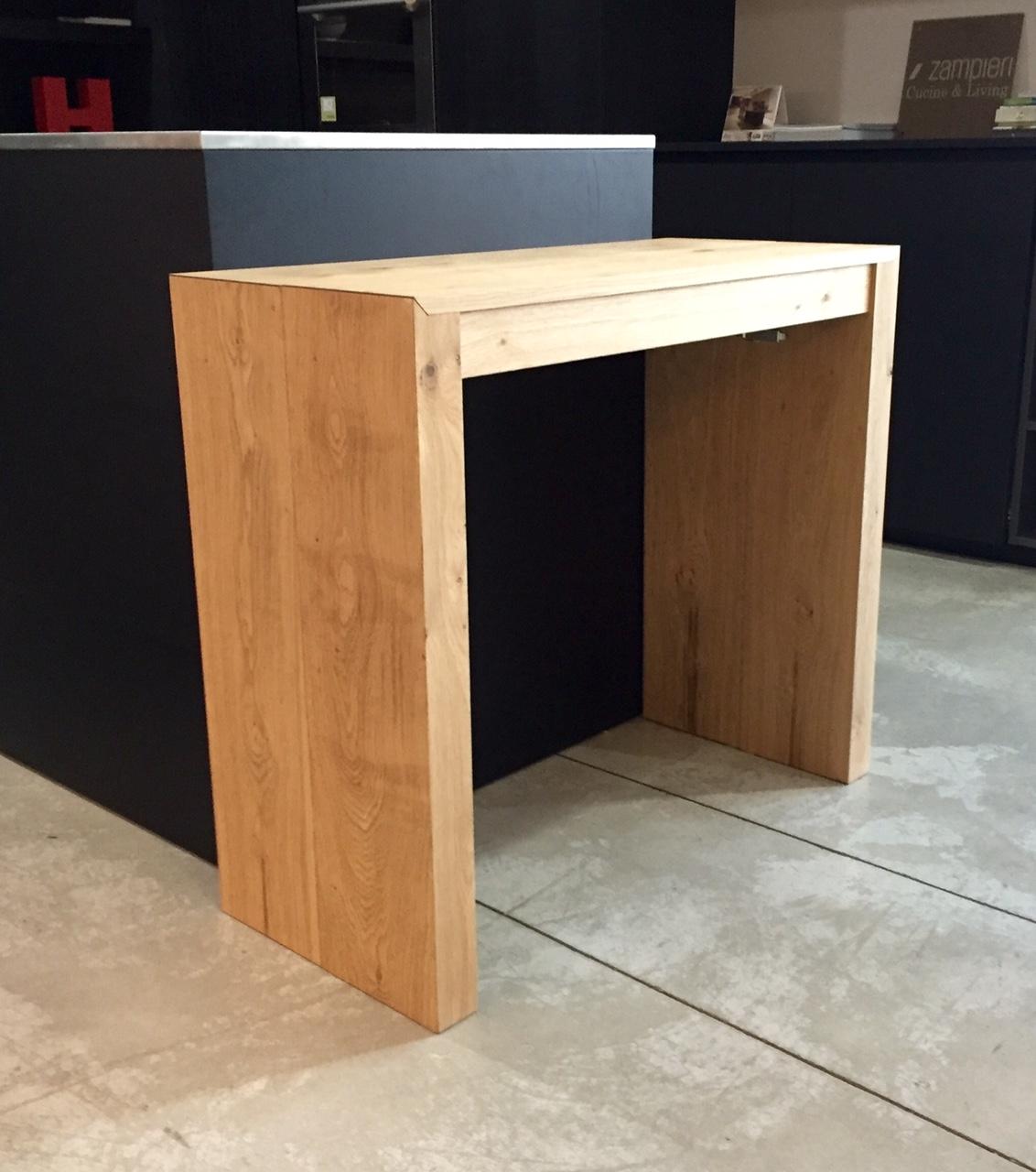 Consolle tavolo allungabile rovere naturale for Tavolo consolle allungabile prezzi