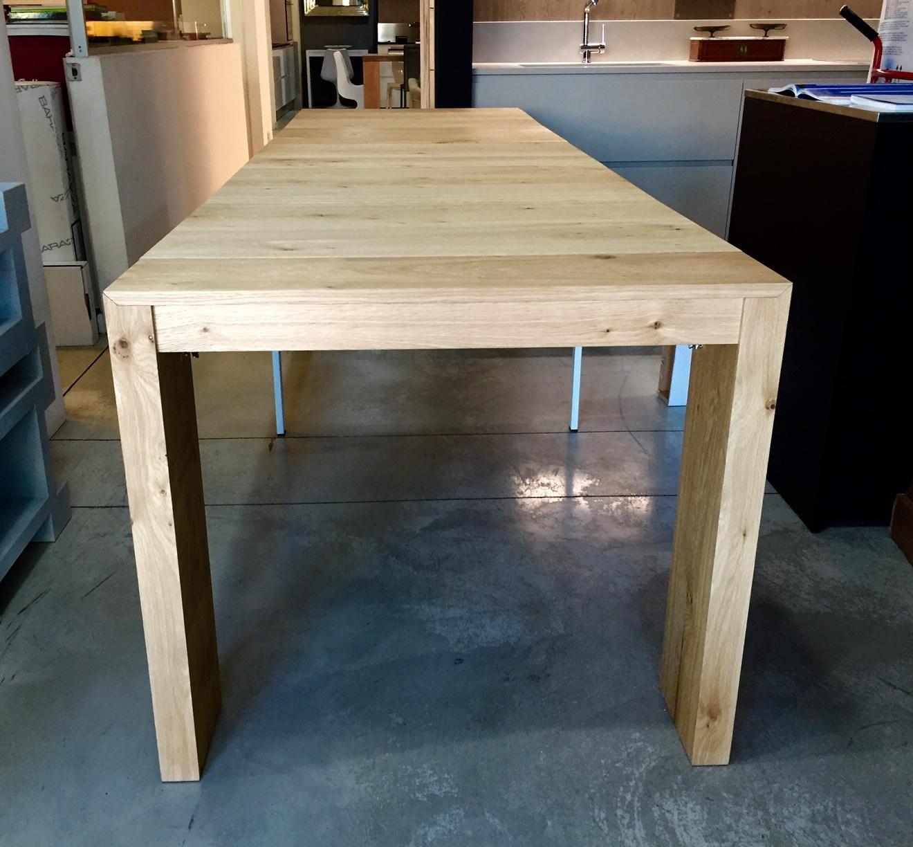 Consolle tavolo allungabile rovere naturale for Tavolo rovere allungabile