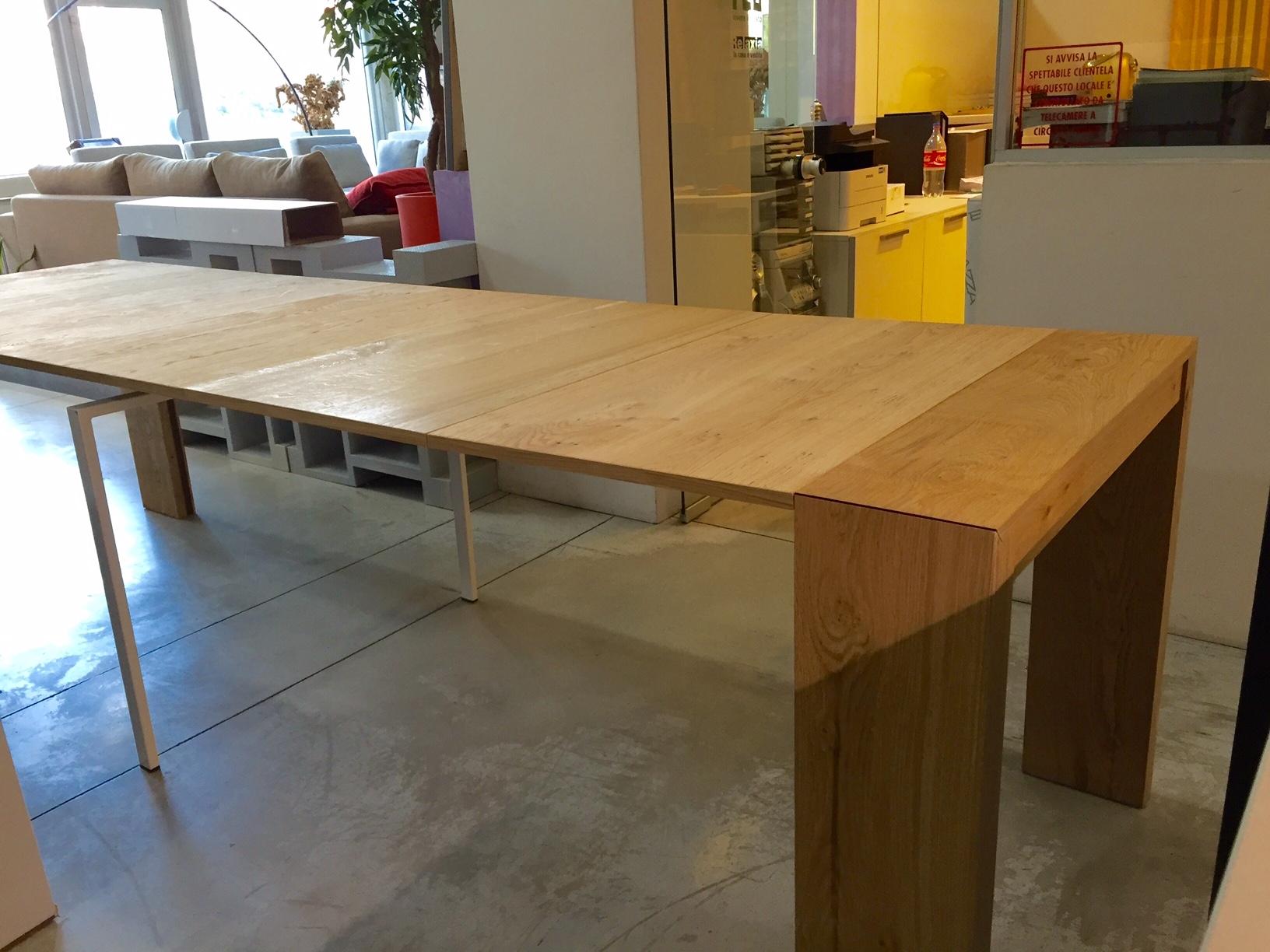 Consolle tavolo allungabile rovere naturale for Tavolo allungabile rovere