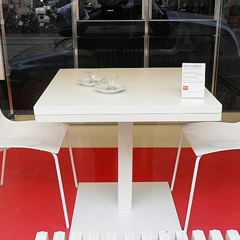 Tavolo quadrato allungabile cub di tonin casa tavoli a for Fontana arreda