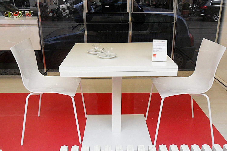 Tavolo quadrato allungabile cub di tonin casa tavoli a for Tavola allungabile