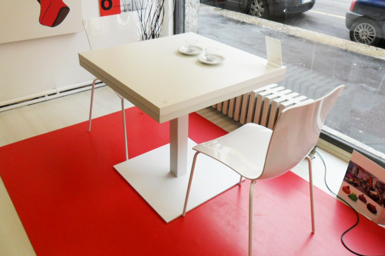 Tavolo quadrato allungabile cub di tonin casa tavoli a - Tavolo allungabile a ribalta ...