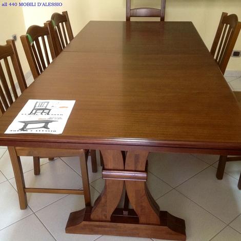 Tavolo allungabile in legno massello con 8 sedie - Tavoli a prezzi ...