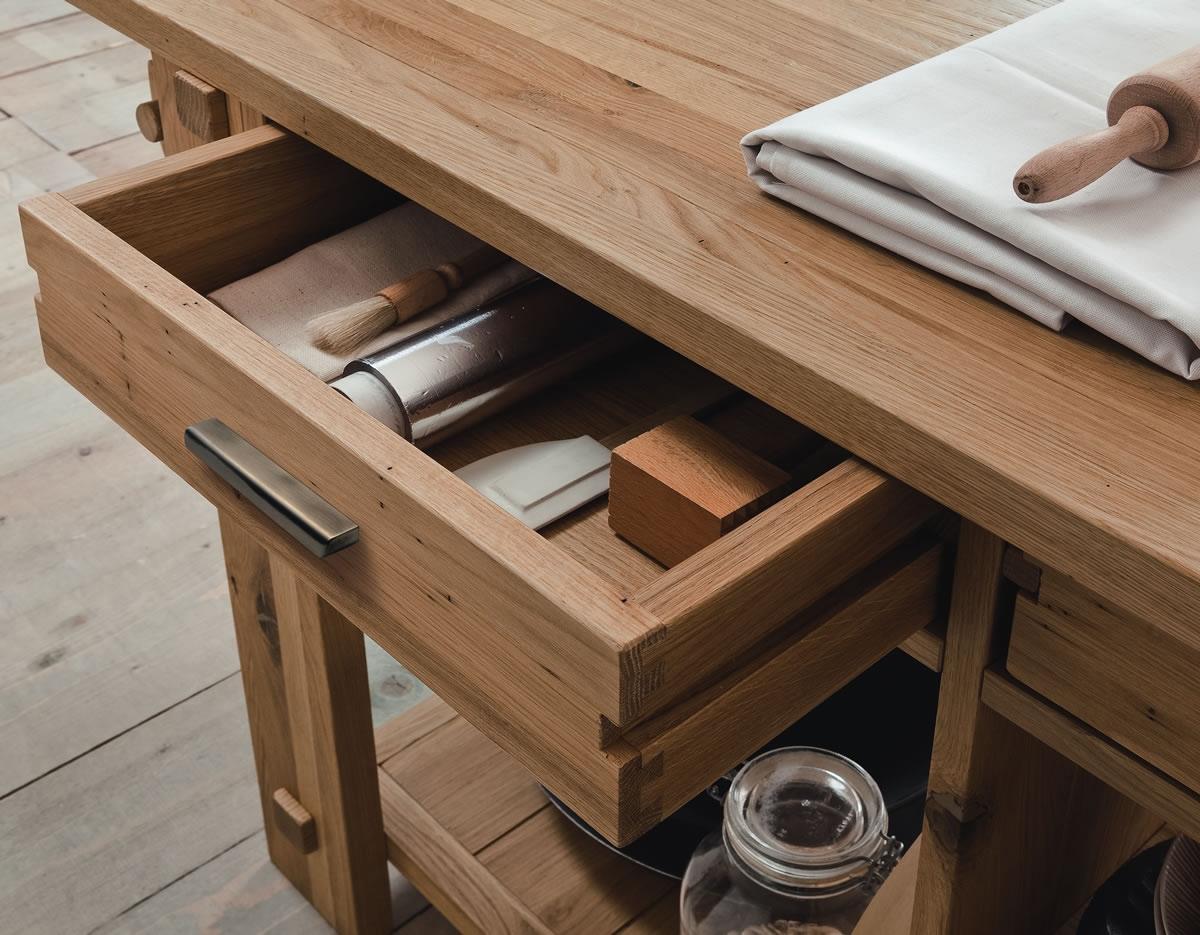 Isola cucina in rovere massello tavoli a prezzi scontati - Isole per cucine prezzi ...