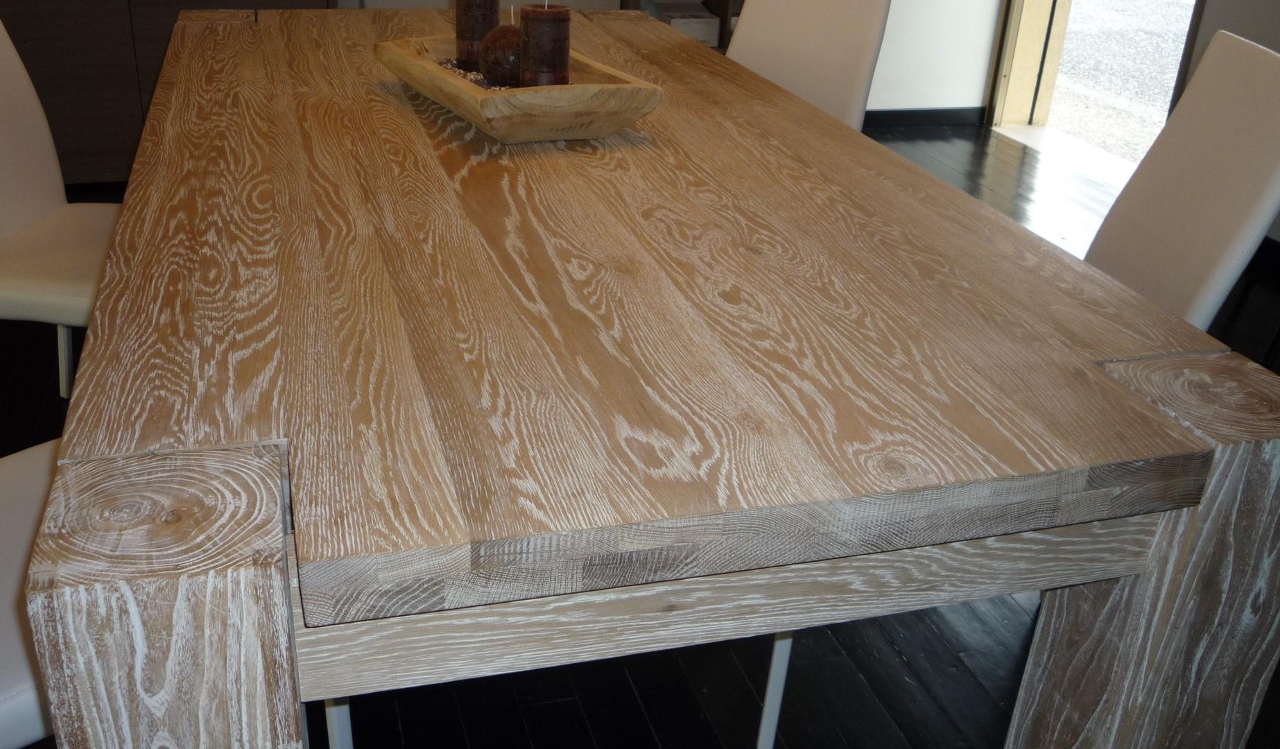 Tavolo da cucina di kico modello wood in rovere scontato for Tavolo cucina rovere