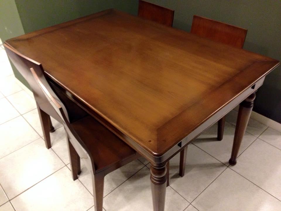 Tavolo ciliegi rettangolare allungabile legno massiccio - Tavoli rettangolari allungabili in legno ...