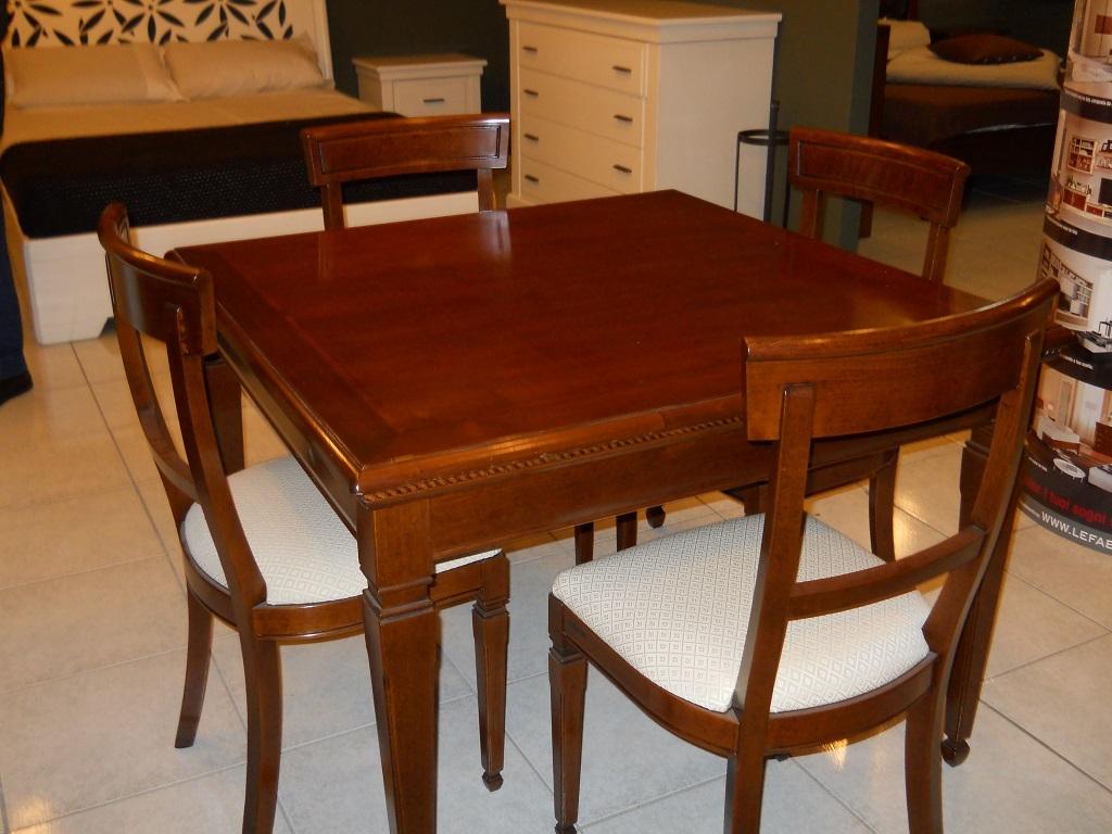 Tavolo allungabile tavoli a prezzi scontati for Offerta sedie legno