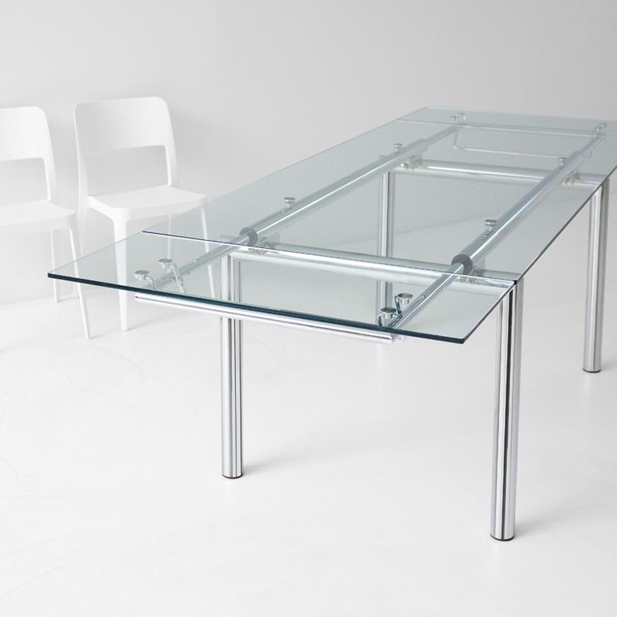 Midj tavolo mambo r rettangolare allungabile in vetro for Tavolo pranzo cristallo