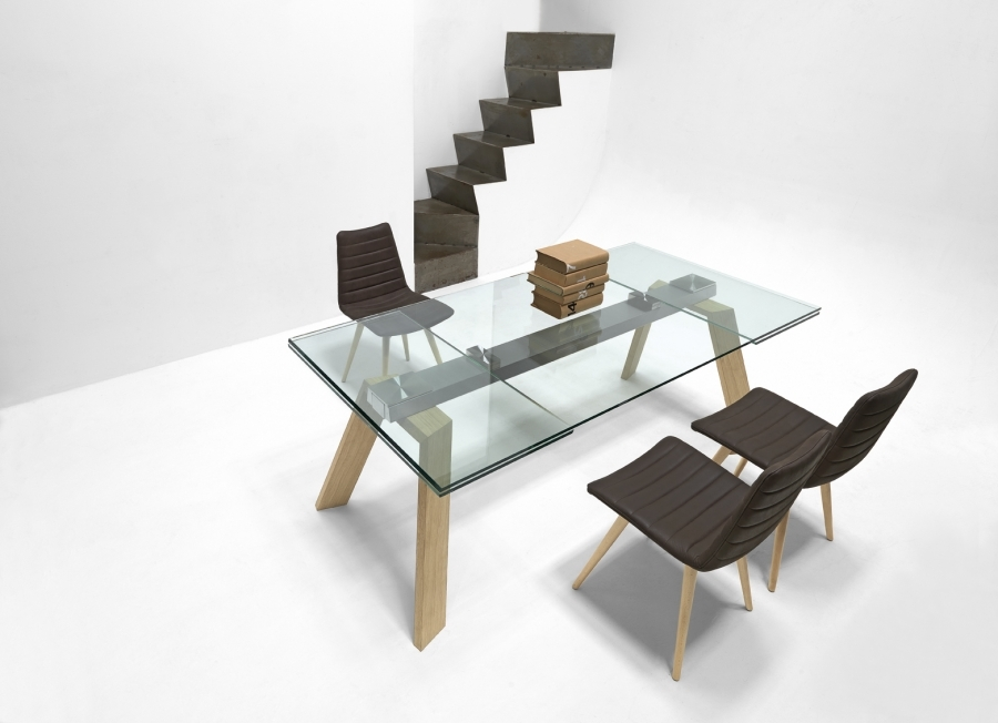 Midj tavolo toronto allungabile cristallo   tavoli a prezzi scontati