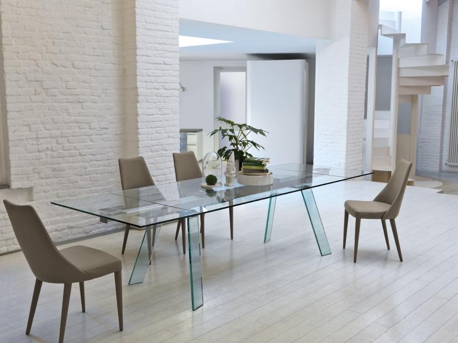 Midj tavolo toronto allungabile cristallo tavoli a for Tavoli in cristallo allungabili