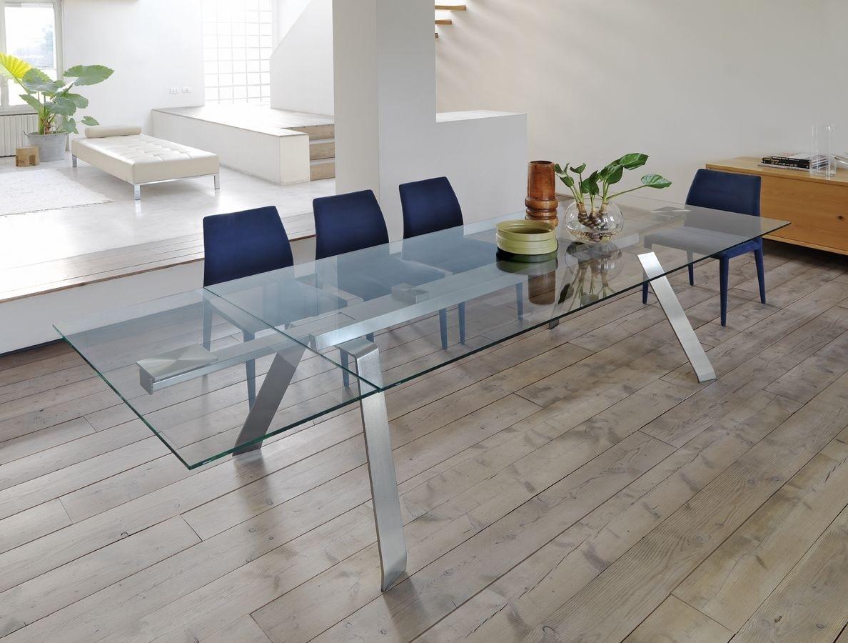 Midj tavolo toronto allungabile cristallo tavoli a prezzi scontati - Tavoli quadrati in cristallo ...