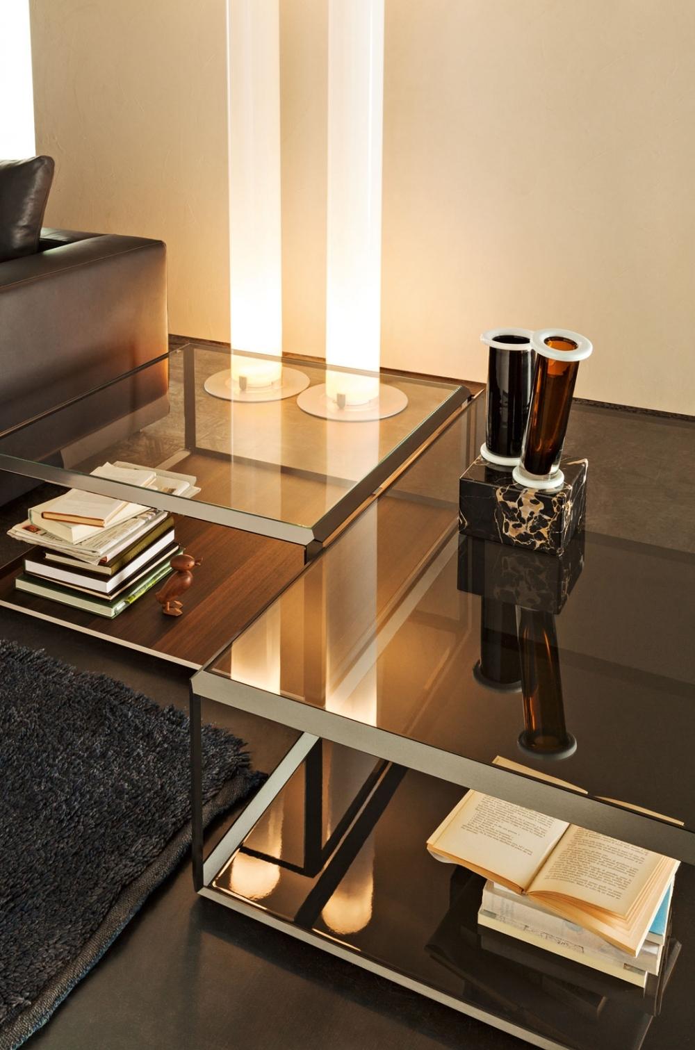 Molteni c tavolino salotto piano cristallo molteni 45 - Tavolino salotto cristallo ...
