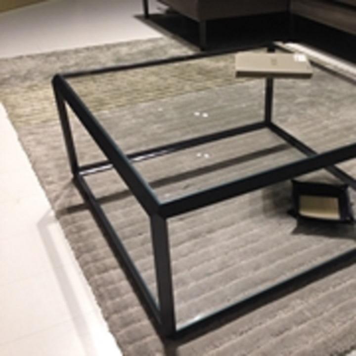 Molteni c tavolino salotto piano cristallo molteni 45 quadrato fisso vetro tavoli a prezzi - Piano in vetro per tavolo prezzi ...