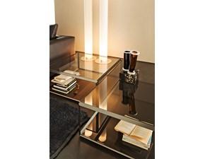 Tavolino salotto 45° Molteni quadrato fisso vetro