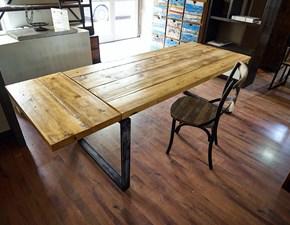 tavolo industrial outlet in offerta ultimo pezzo  da cm 180 x 80 allungabile con una o due prolunghe  da cm 40