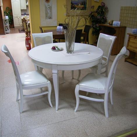 Offerta tavolo con 4 sedie bianco antico tavoli a prezzi for 4 sedie in offerta