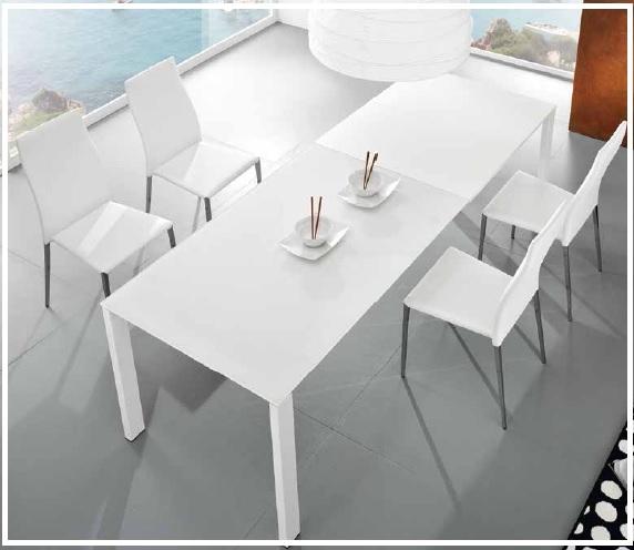 Offerta tavolo cristallo allungabile 4 sedie ecopelle - Tavolo in cristallo allungabile ...