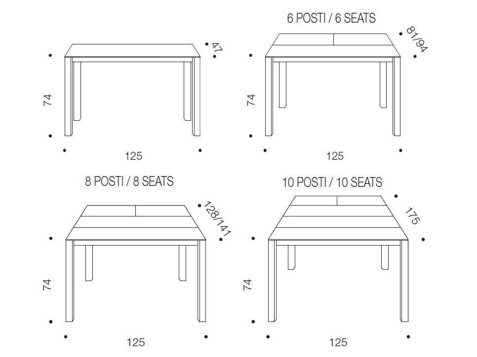 Offerta tavolo ozzio voila 39 consolle allungabile scontato - Tavolo per 10 persone misure ...