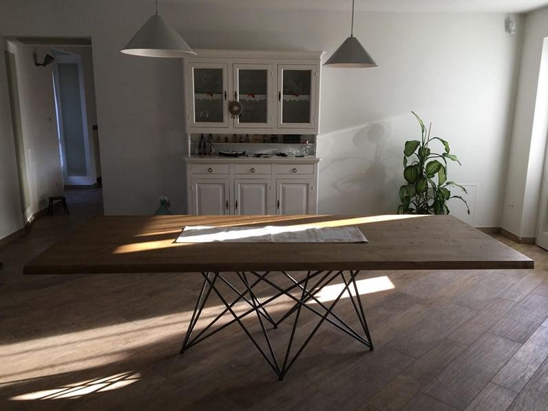 Offerta Tavolo Rendy Di Cucinestore Misura 250x110cm Con Piano In Legno Massello