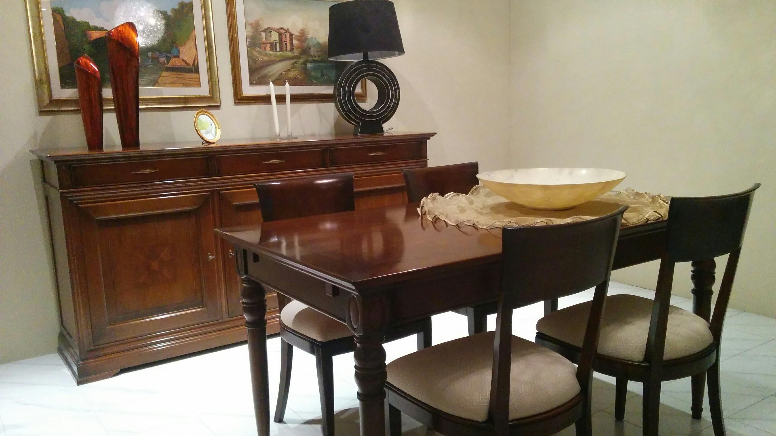 Offerta tavolo sedie e credenza le fablier tavoli a for Mondo convenienza sedie soggiorno